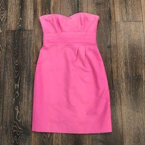 J. Crew pink strapless dress